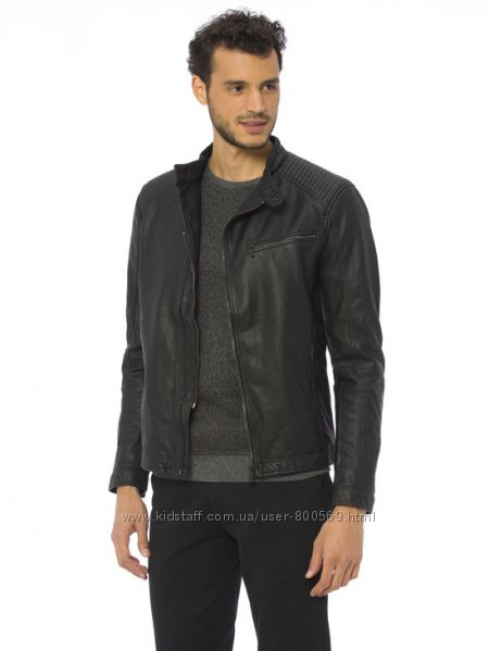 Куртка мужская, демисезонная кожаная, новая, XL, XXL, 48, 50, 52, 54