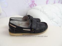 Кожаные туфли мокасины Берегиня на мальчика. Размер 30-31