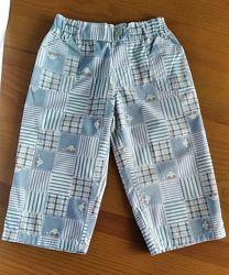 Тонкие лёгкие хлопковые штанишки с кармашками на малыша 2-х лет