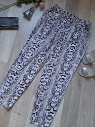 Летние штанишки на резинке размер l  40-42 h&m в идеале