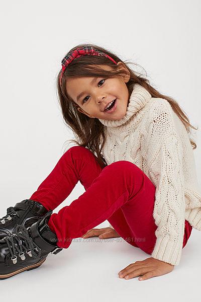 H&M штаны вельвет красные бордовые на 4 5 лет рост 110