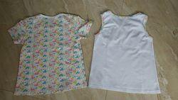 Комплект футболка и майка на 6-7 лет 122 рост