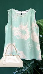 Люксовая шелковая блузка в цветах ST. EMILE, Германия.