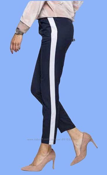 Стильные темно синие брюки с лампасами ZARA.