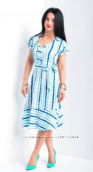 Легкое платье в полоску код 5803
