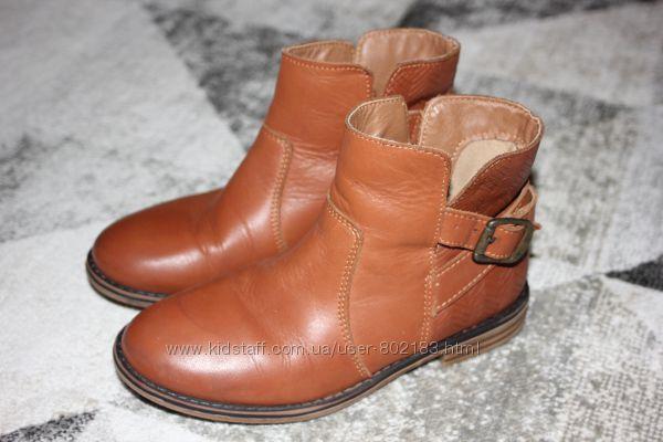 Стильные кожаные демисезонные ботинки Next размер 12 на 31 19, 7 см по стель