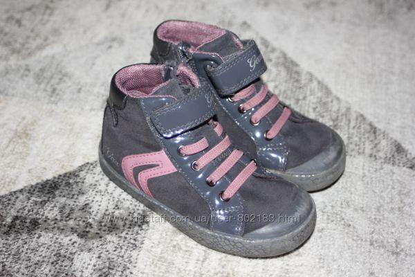 Замшевые демисезонные ботинки Geox Respira  Италия размер 8 на 24