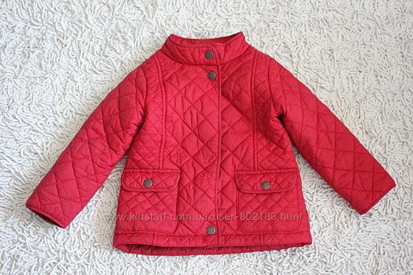 Красная стеганая куртка Next на 1,5-2 года