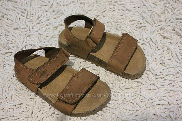 Кожаные босоножки сандалии на пробковой подошве Next размер 9 на 27 17 см п