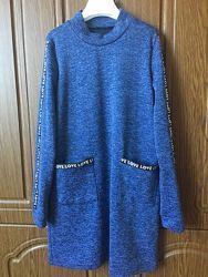 Платье трапеция  , рост 140,146