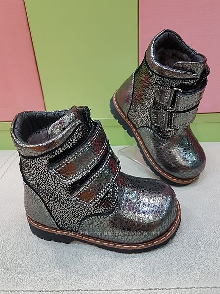 Кожаные зимние ботинки Panda 02-300
