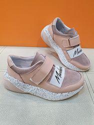 Кожаные кроссовки Masheros 32-37р 258