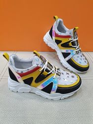 Кожаные кроссовки K. Pafi 31-36р P671