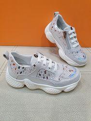Кожаные кроссовки K. Pafi 31-36р 086-0037