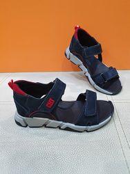 Кожаные сандали Santegros 32-36р П6 сер