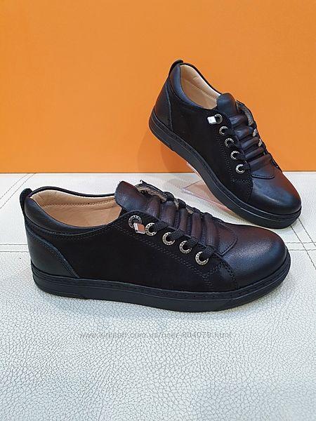 Кожаные туфли Polipeys 31-36р 330-02