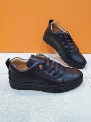 Кожаные туфли Polipeys 31-36р 148-03