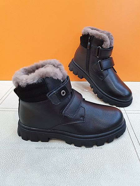 Кожаные зимние ботинки KangFu 31-36р T933-2