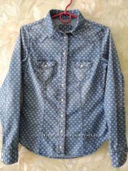 Джинсовая рубашка xs