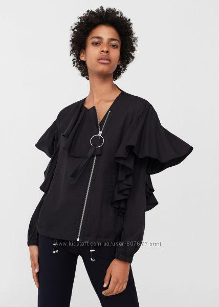 Шикарная , модная женская куртка, бомбер Mango, 38, новая с бирками в н