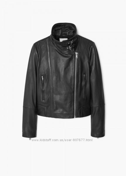 Женская кожаная куртка Mango косуха размер М новая в наличии