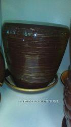 Керамический вазон до 4л