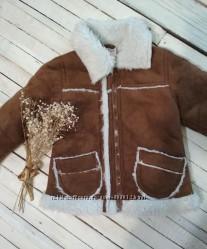 Курточка деми дубленка для девочки
