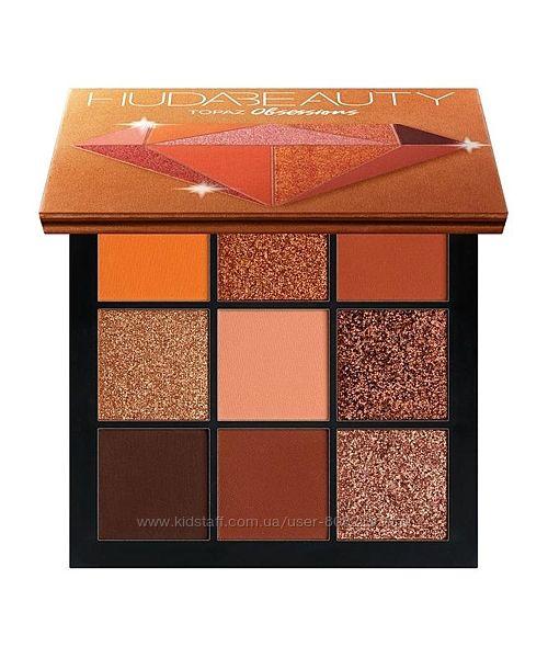 Палетка теней Huda Beauty Topaz Obsessions Palette, 9,9 гр.