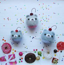 Интерьерная игрушка Мишка-пирожное