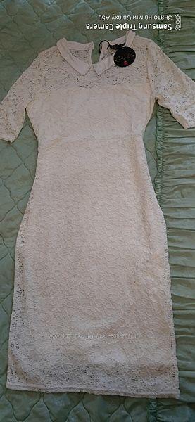 Нарядне белое платье