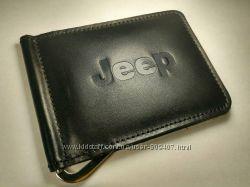 Зажим для денег из натуральной кожи Jeep