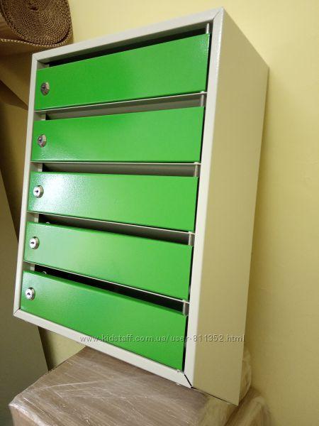 Ящик почтовый металлический с задней стенкой ЯП05МГ Серыйзеленый