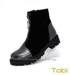 Кожаные демисезонные ботинки ТМ Tobi. Арт. 147-04
