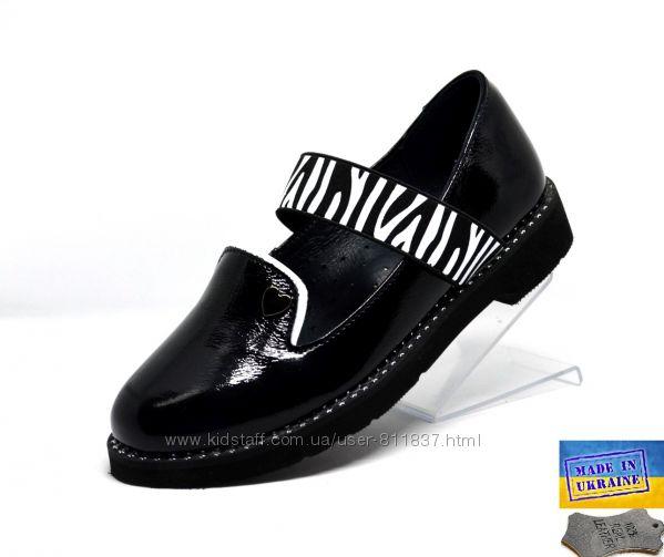 Детские кожаные туфли Masheros. Арт. 222 черный лак