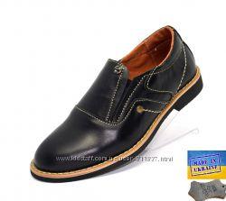 Детские кожаные туфли. Арт. 3954 черная кожа