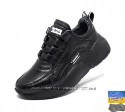 Кожаные стильные кроссовки. Арт. 3520