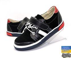 Кожаные детские туфли. Арт. 5034 черный