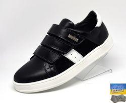 Шкіряні дитячі туфлі. Арт. 7044 чорна шкіра.