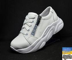 Кожаные кроссовки ТМ Masheros. Арт. 249 белый