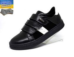 Шкіряні дитячі туфлі. Арт. 7044/1 чорна шкіра.
