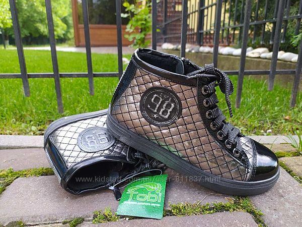 Кожаные демисезонные ботинки ТМ Tobi. Арт.125/05