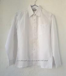 Рубашка белая Школяр, синяя р. 152-158 школьнику