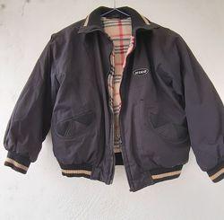 куртка бомбер двусторонняя KIKO 7-8 лет  кепка