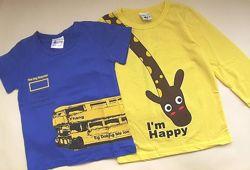 футболки 2 шт. р. 100-110
