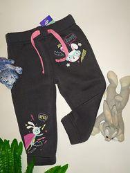 Теплые штаны на флисе на девочку Pepco