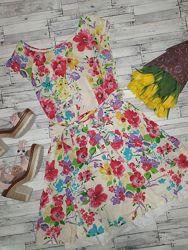 Летнее красочное платье в цветы  F&F