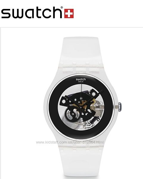 Швейцарские часы swatch black ghost унисекс Прозрачные Часы