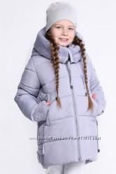 Детское зимнее пальто для девочек с рукавичками на рост 116-158. Зима 2019
