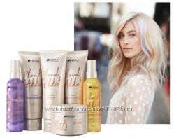 Оттеночный шампунь, маска, спрей для светлых волос Indola Blond Addict