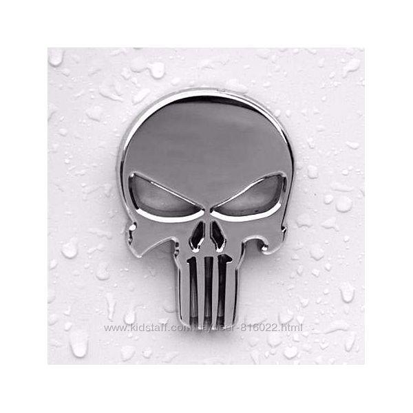 Шильдик эмблема наклейка стикер Punisher Каратель скелет череп